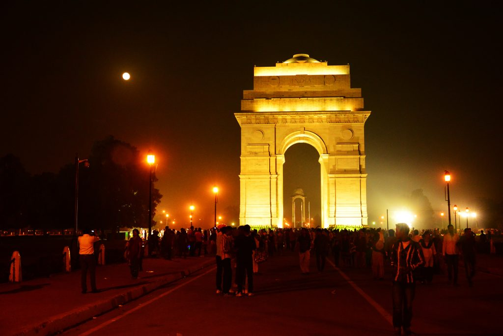 Eat An Ice cream At The India Gate At Midnight