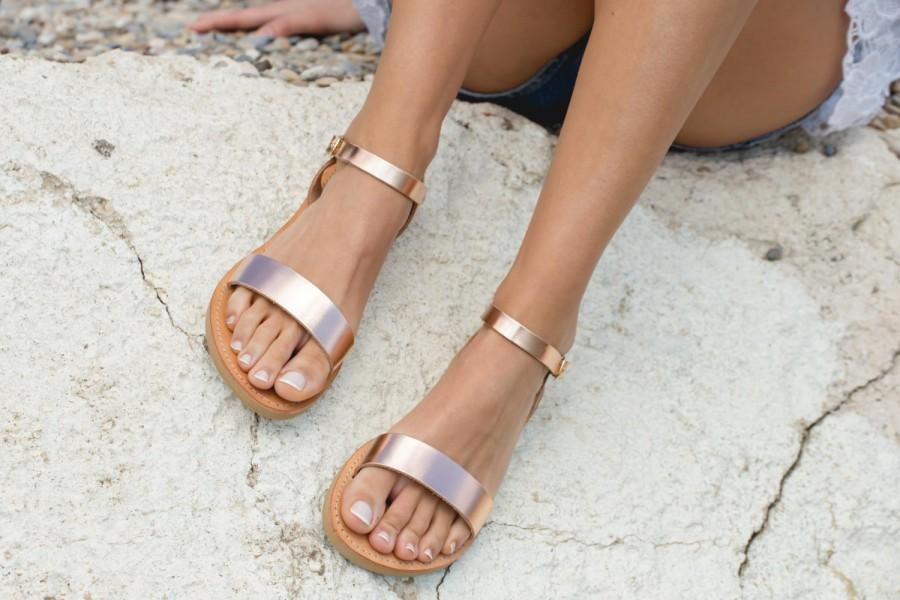 Flat Leather Sandals