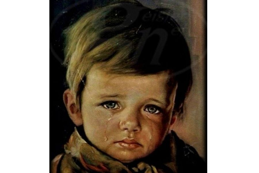 'The Crying Boy' Painting