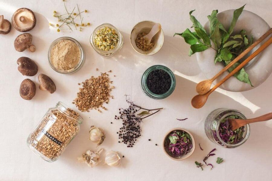 Through Herbs And Supplements