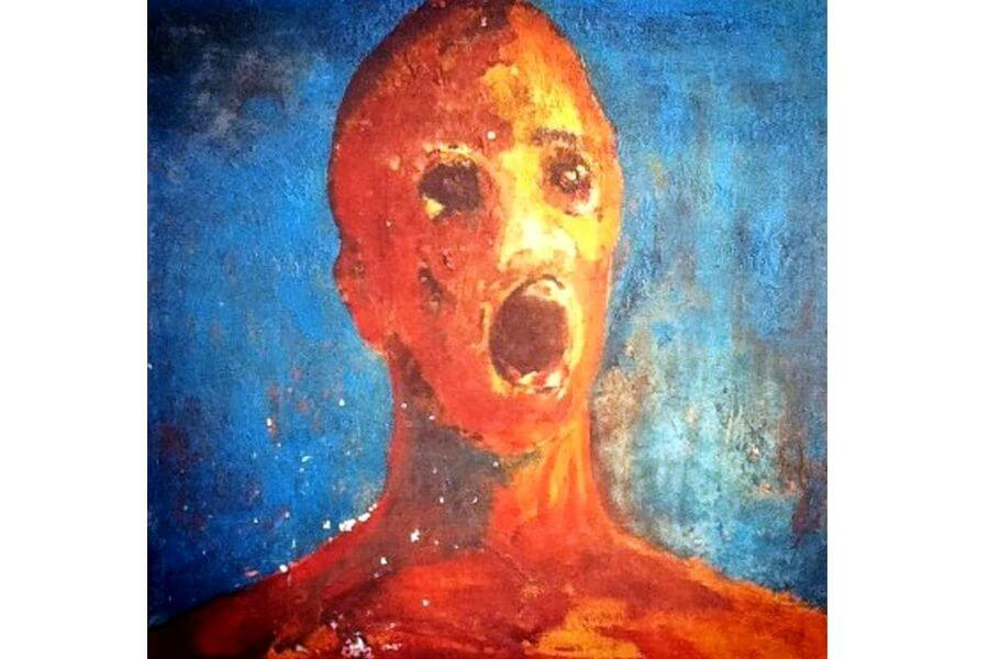 'The Anguished Man' Painting