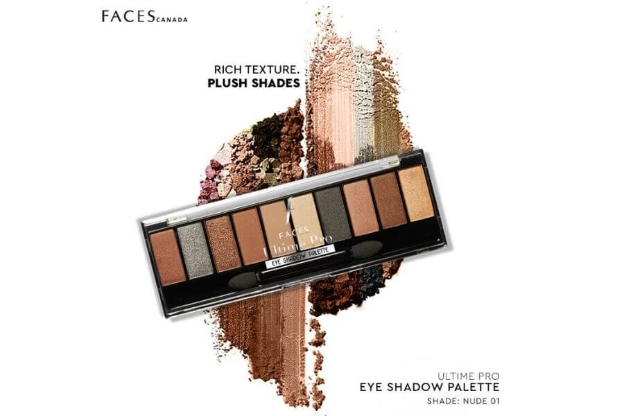 Faces Canada Ultime Pro Eyeshadow Palette Nude