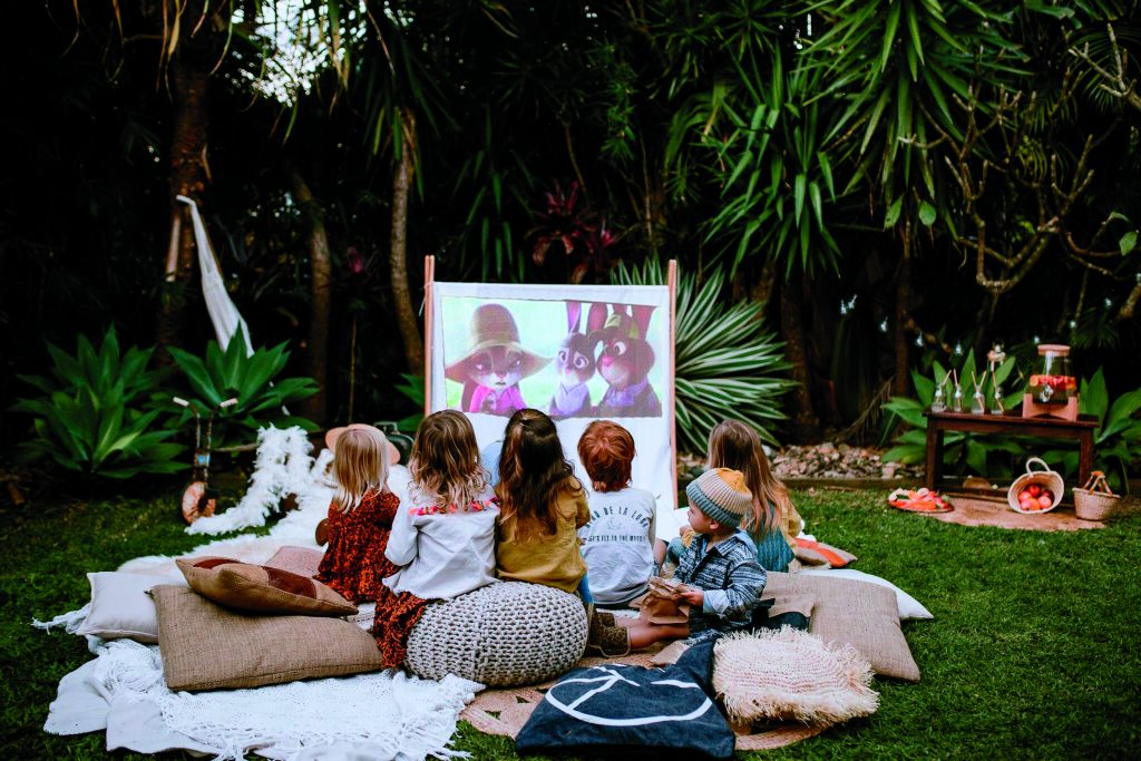 Watch a movie in your backyard