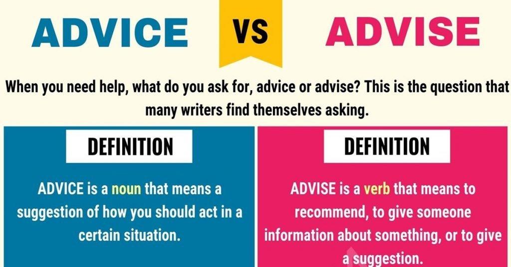 advice/advise