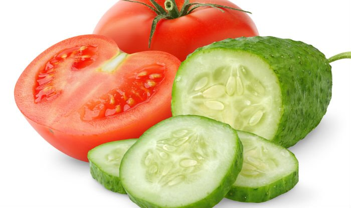 c) Tomato- Cucumber Face Mask